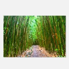 maui hana bamboo forest h Postcards (Package of 8)