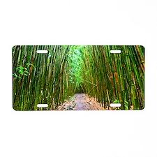 maui hana bamboo forest hik Aluminum License Plate