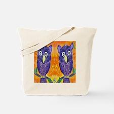 Purple Owls Tote Bag