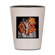 burning tree Shot Glass