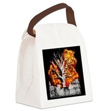 burning tree Canvas Lunch Bag