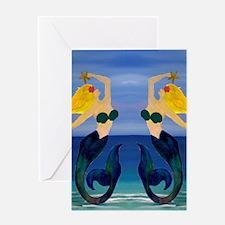 Blond Mermaid Greeting Card