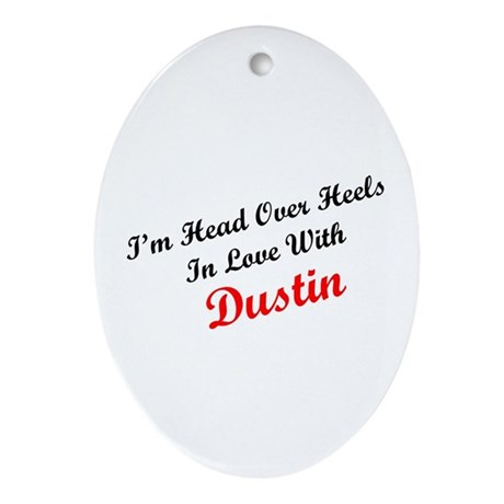 In Love with Dustin Oval Ornament