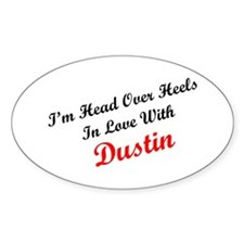 In Love with Dustin Oval Decal