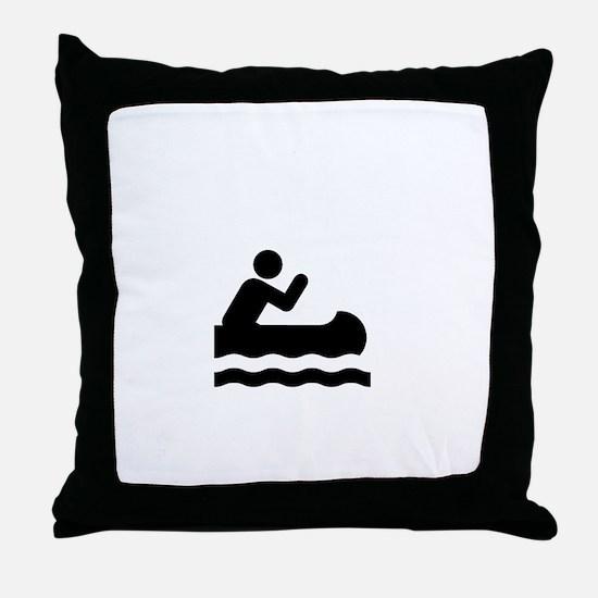Upschit Creek White Throw Pillow