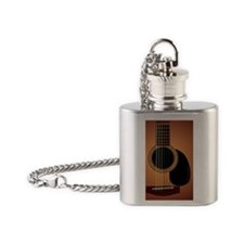 acousticguitar-sunburst_MensWallet Flask Necklace
