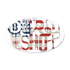 Birdshot Logo - FLAG - Disc Golf Oval Car Magnet