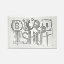 Birdshot Logo - METALLIC - Disc G Rectangle Magnet