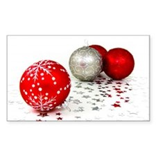 Red and Silver Christmas Decal