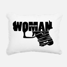 Woman power_BLACK Rectangular Canvas Pillow