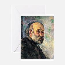 Self Portrait - Paul Cezanne - c1895 Greeting Card