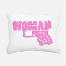 Woman power_PINK_2 Rectangular Canvas Pillow