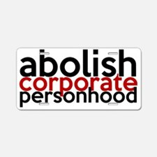 abolish Aluminum License Plate