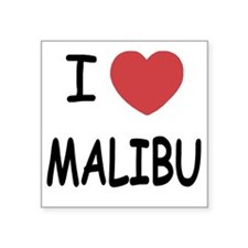 "MALIBU Square Sticker 3"" x 3"""