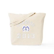 Class Of 2013 Flip Flop White-Blue 2 D Tote Bag
