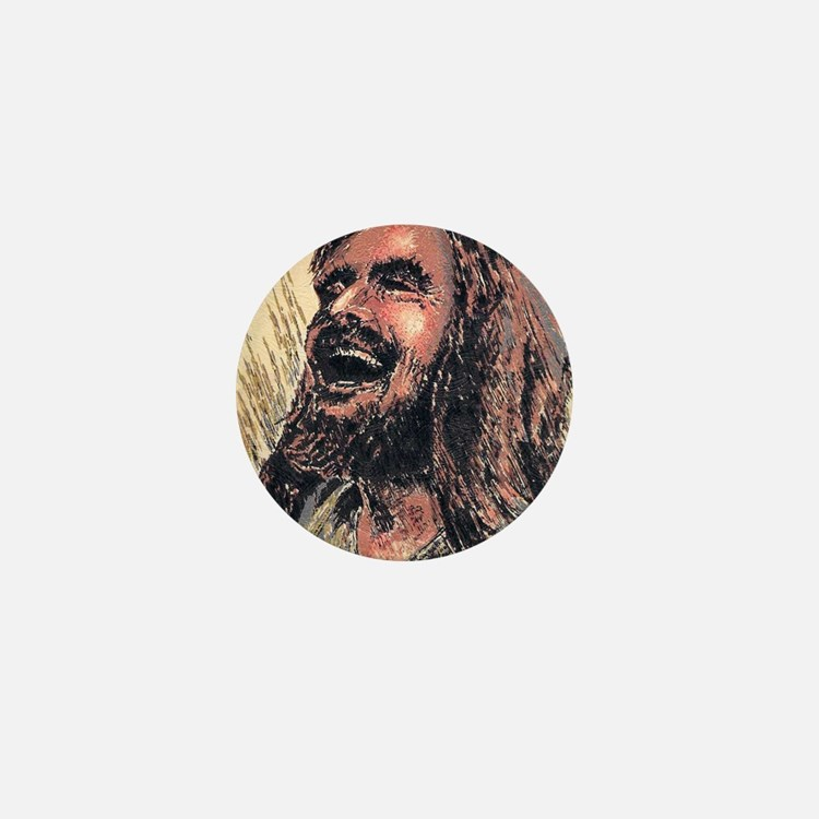 Laughing_Jesus Mini Button