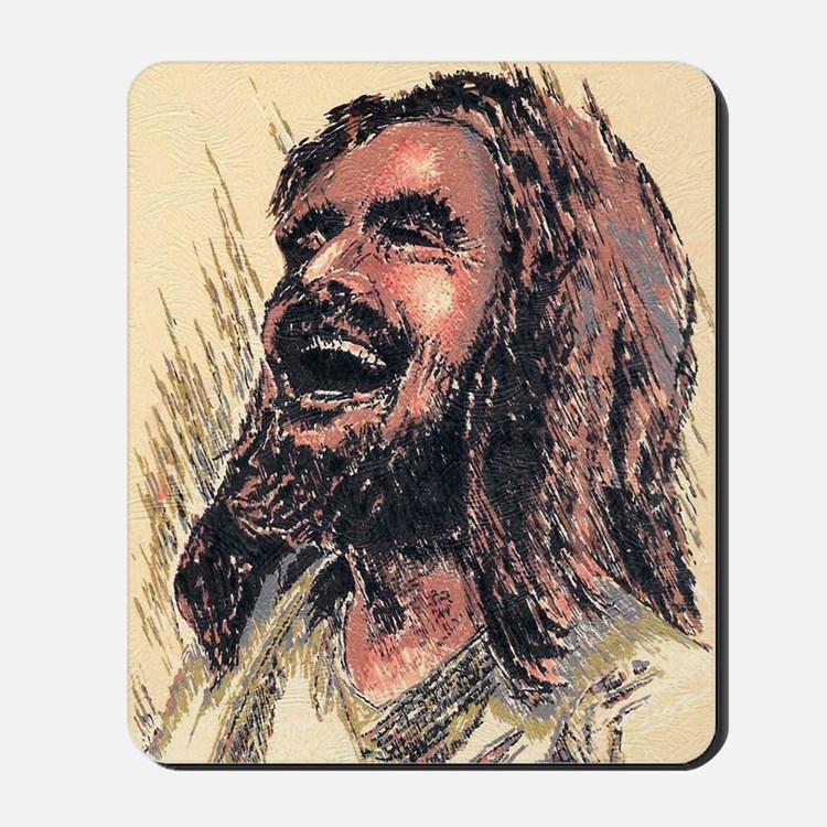 Laughing_Jesus Mousepad