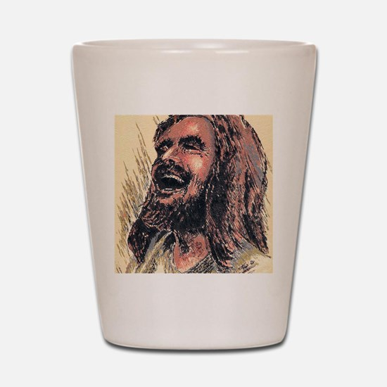 Laughing_Jesus Shot Glass