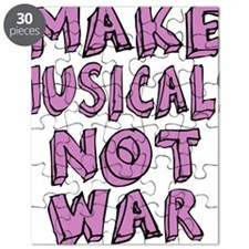 MAKE-MUSICALS-NOT-WAR-PURPL Puzzle