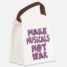 MAKE-MUSICALS-NOT-WAR-PURPL Canvas Lunch Bag