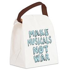 MAKE-MUSICALS-NOT-WAR2 Canvas Lunch Bag