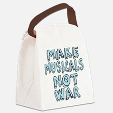 MAKE-MUSICALS-NOT-WAR2 Canvas Lunch Bag