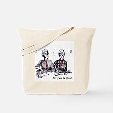 Stripes and Plaid Tee Tote Bag