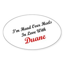 In Love with Duane Oval Decal