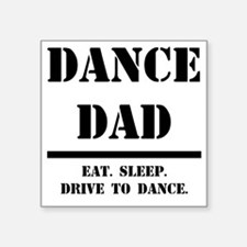 "Dance Dad.gif Square Sticker 3"" x 3"""