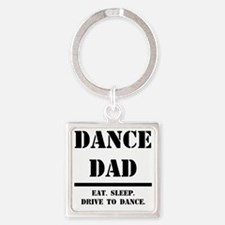 Dance Dad.gif Square Keychain
