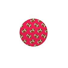 Pink Football Flip Flops Mini Button