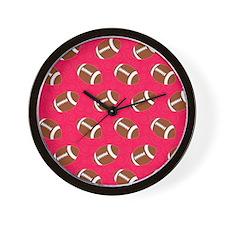 Pink Football Flip Flops Wall Clock