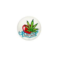 Mary Jane Heart Mini Button
