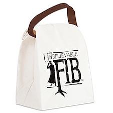 fib_black Canvas Lunch Bag