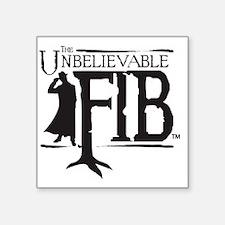 """fib_black Square Sticker 3"""" x 3"""""""