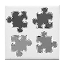 Chrome Puzzle Pieces Tile Coaster