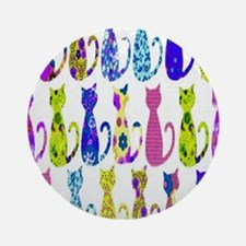 Calico Cat copy Round Ornament