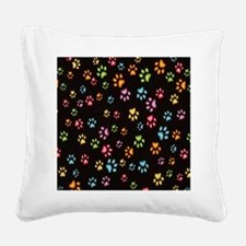 Catty Paws Square Canvas Pillow