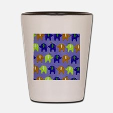 Elephants Summer Blue copy Shot Glass