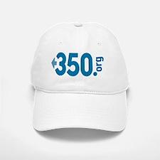 350.org_oval Baseball Baseball Cap