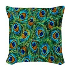 Feathers Woven Throw Pillow