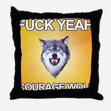 courage_wolf3 Throw Pillow