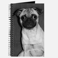 B&W Fawn Pug Journal