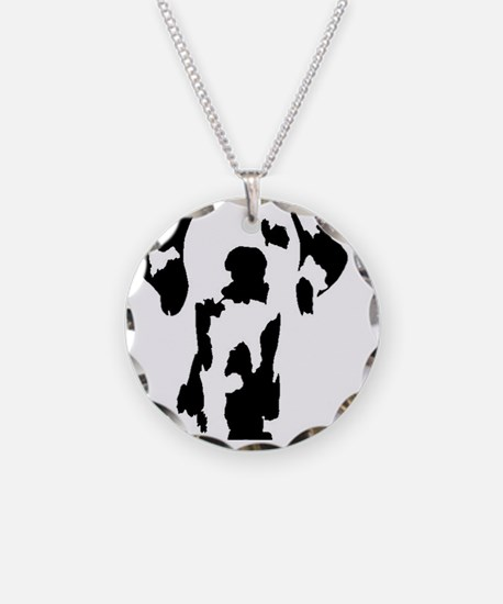 silhouette Necklace Circle Charm