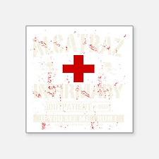 "ALCATRAZ_INFIRMARY Square Sticker 3"" x 3"""