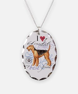 airedale-slider2 Necklace Oval Charm