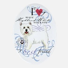 westie-slider2 Oval Ornament