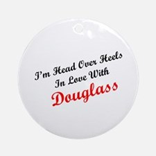 In Love with Douglass Ornament (Round)