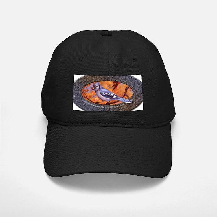 Blue Jay in Oak Tree Baseball Hat