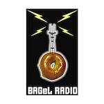 BAGeL Radio Rectangle Sticker